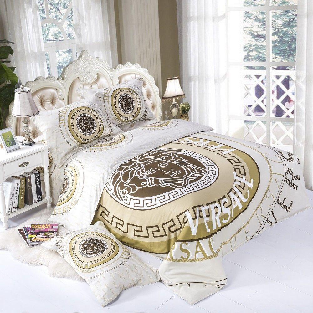 Best Loveeee All White Gold Versace Bedding Set Modern Beautiful Design Soft And Pleasing 640 x 480