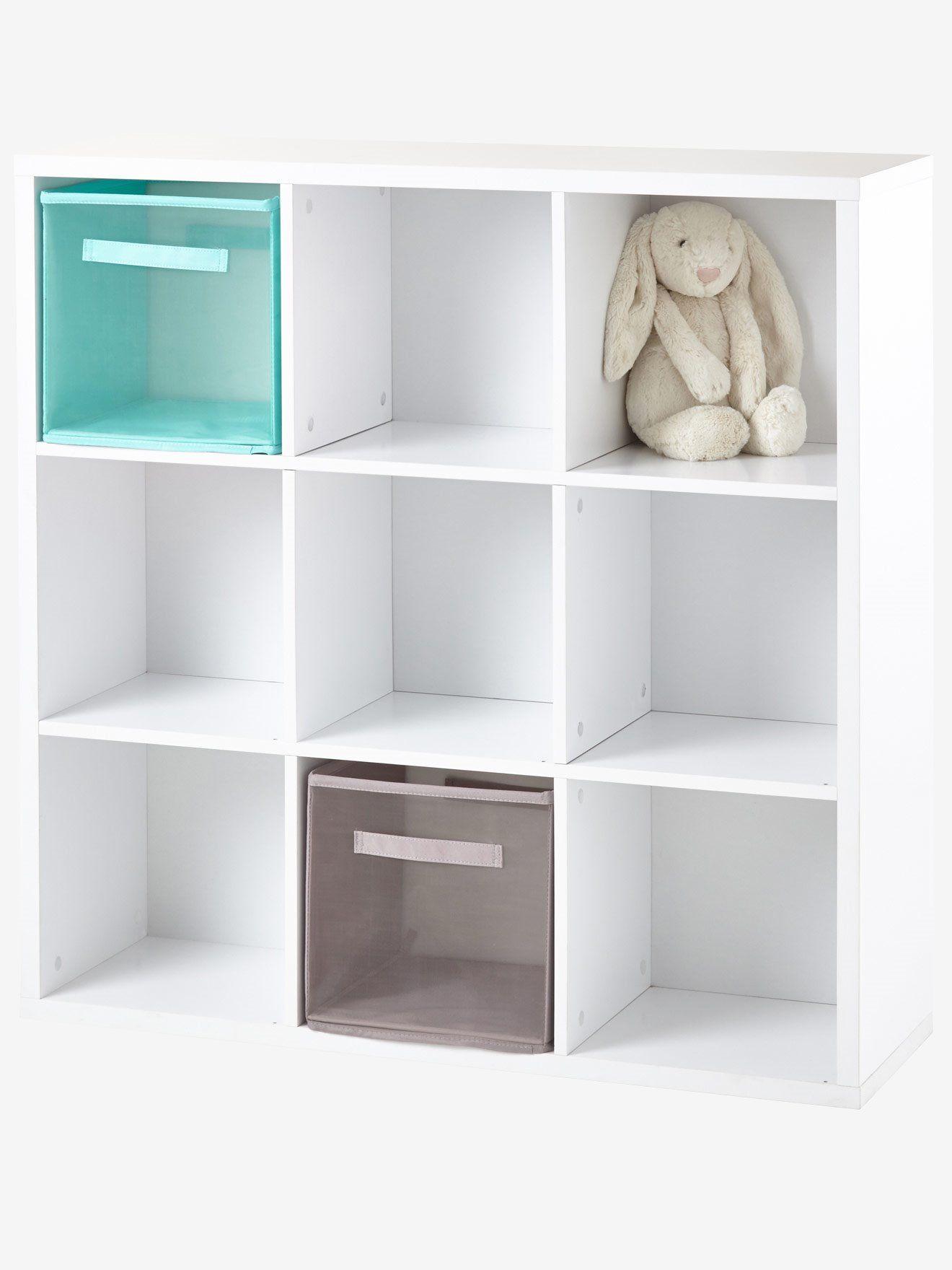 meuble de rangement 9 cases blanc