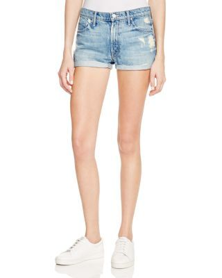 MOTHER The Teaser Roll Shorts in Hijacking the Runway | Bloomingdale's