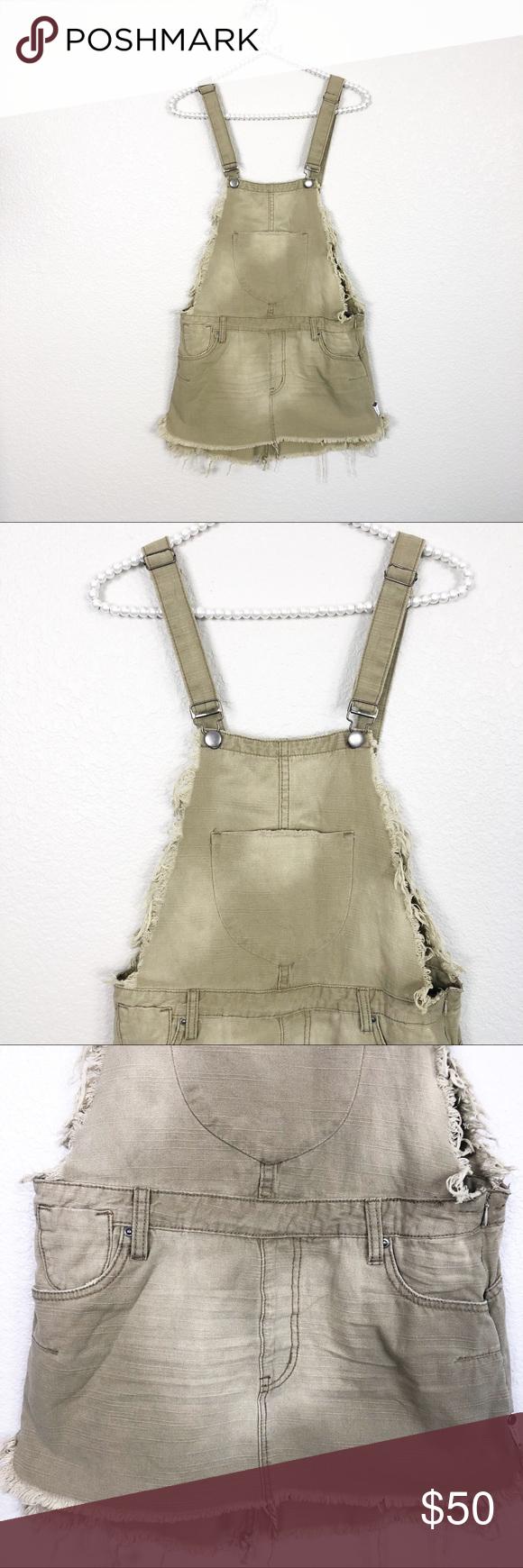 One Teaspoon Militaire Upsized Pini Dress Sz S Oneteaspoon Overall Dress Clothes Design [ 1740 x 580 Pixel ]