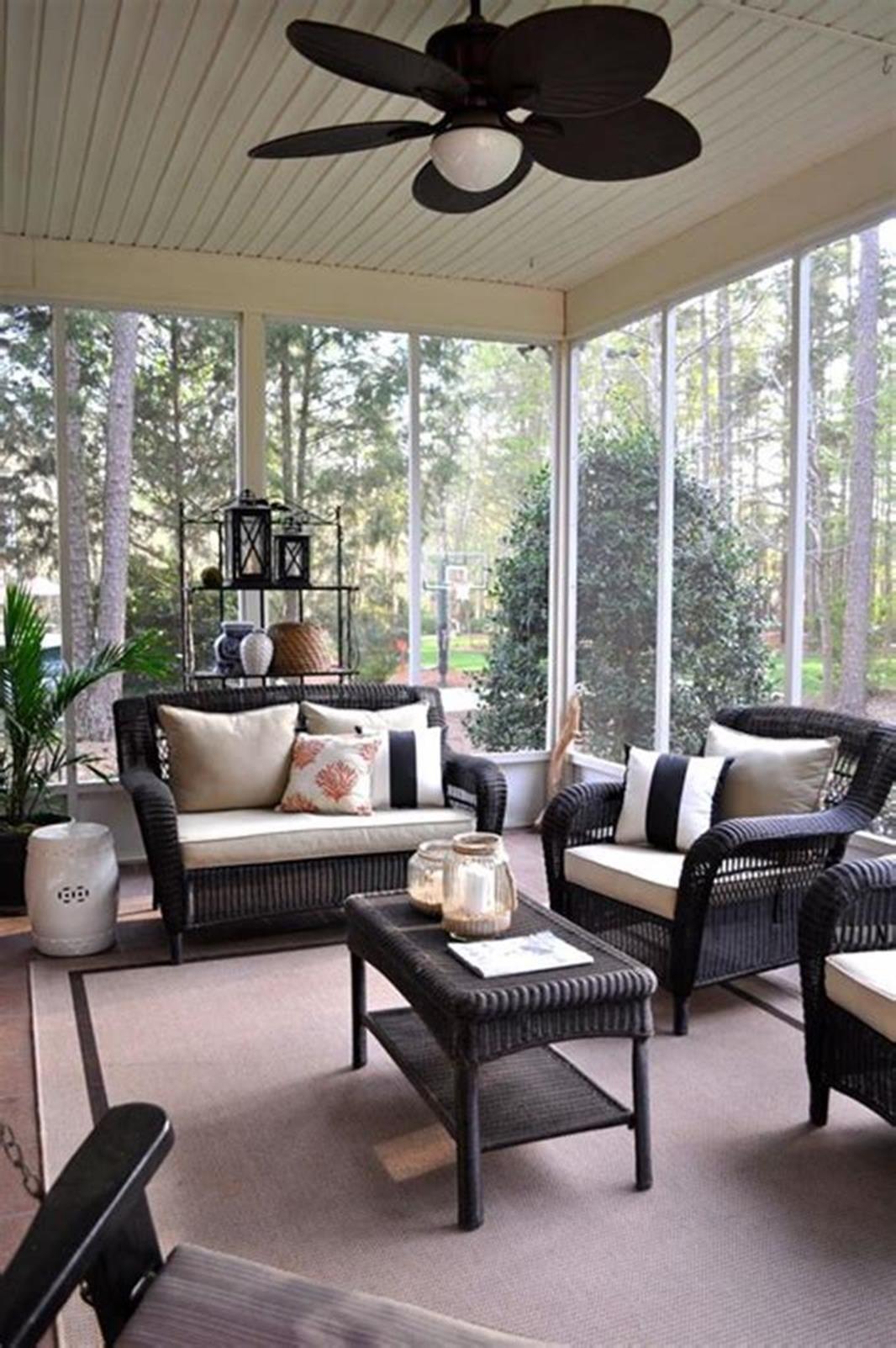 Best 45 Cheap Sunroom Furniture Ideas   Sunroom decorating ... on Cheap Patio Enclosure Ideas  id=89394