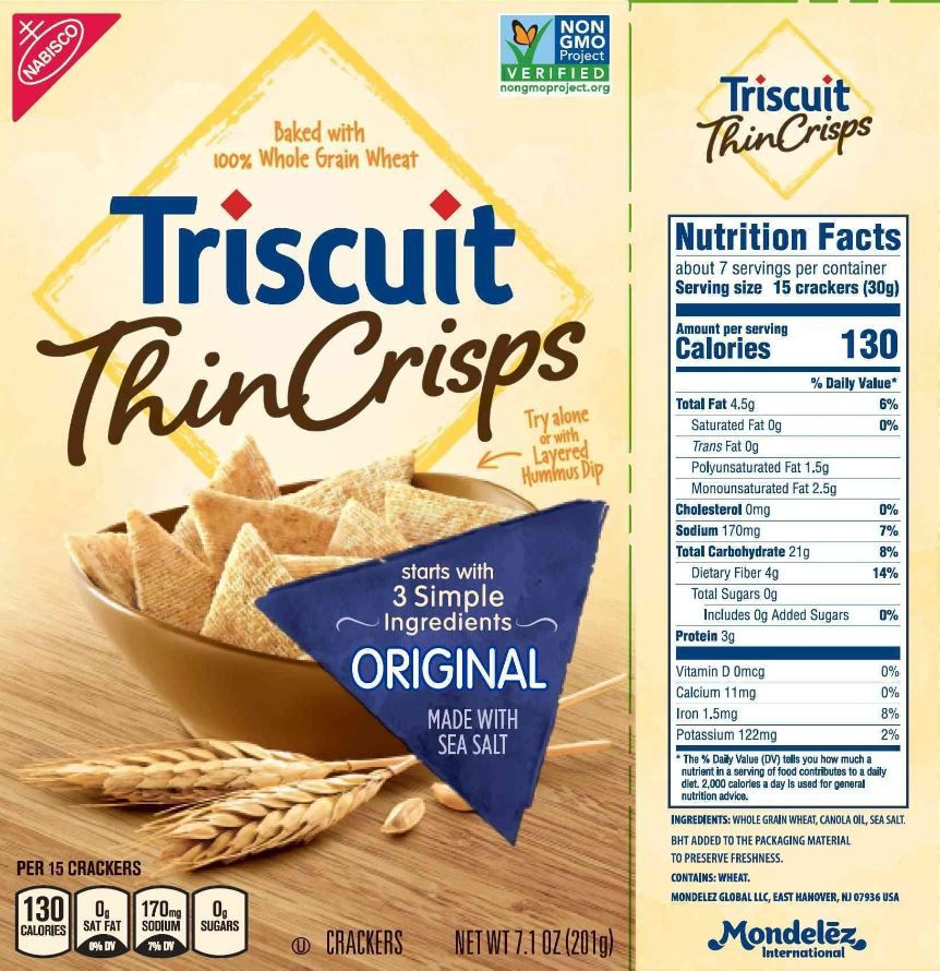 The Updated Nutrition Facts Label As Seen On Triscuit Thin Crisps Original Crackers Image Courtesy Of Label I Nutrition Facts Label Nutrition Nutrition Facts