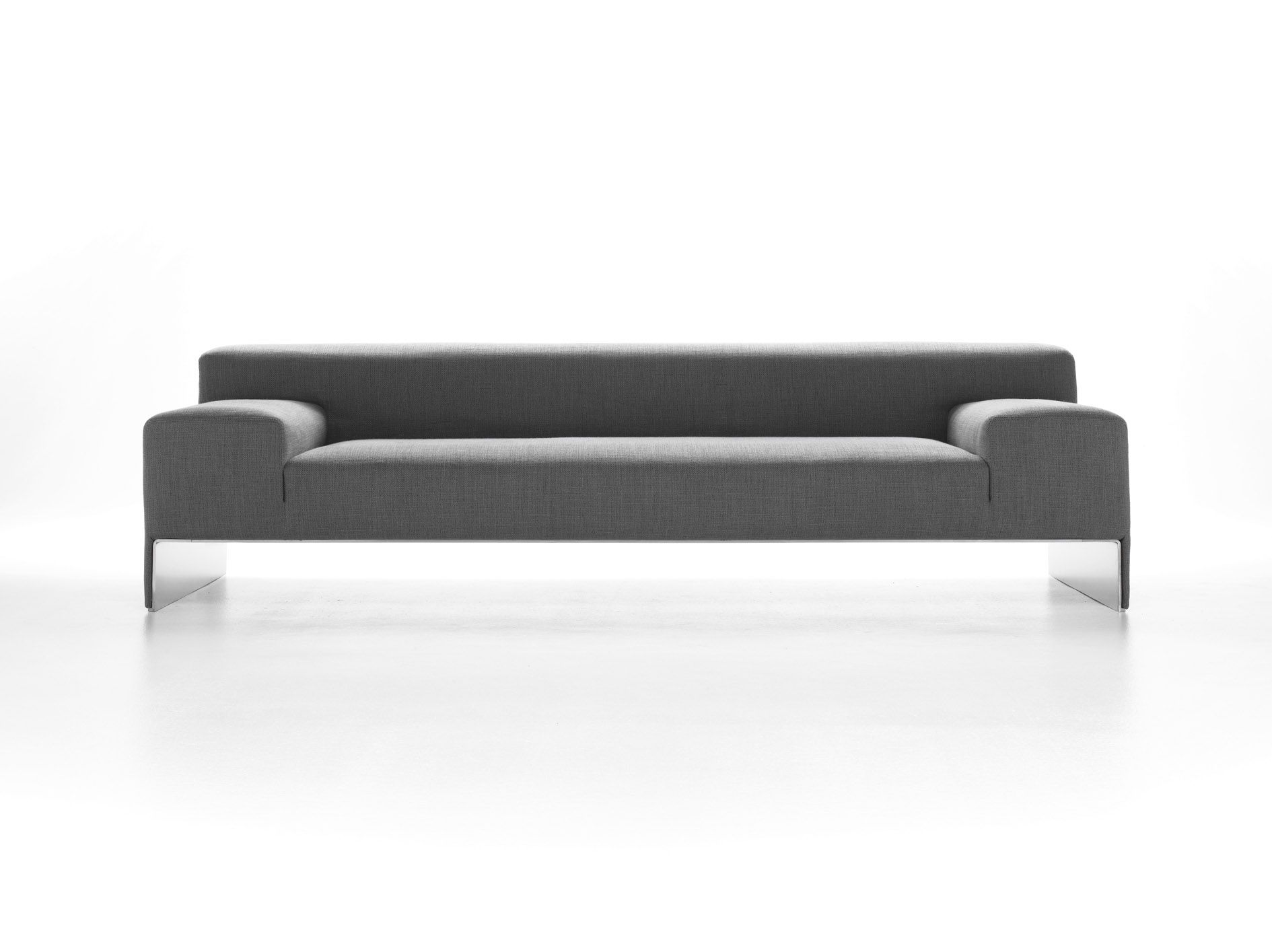 Minimalist Black Long Sofa With Wooden Legs And Soft Modern Skin For Best  Minimalist Furnitures Design Ideas / Furniture Comfortable Modern .
