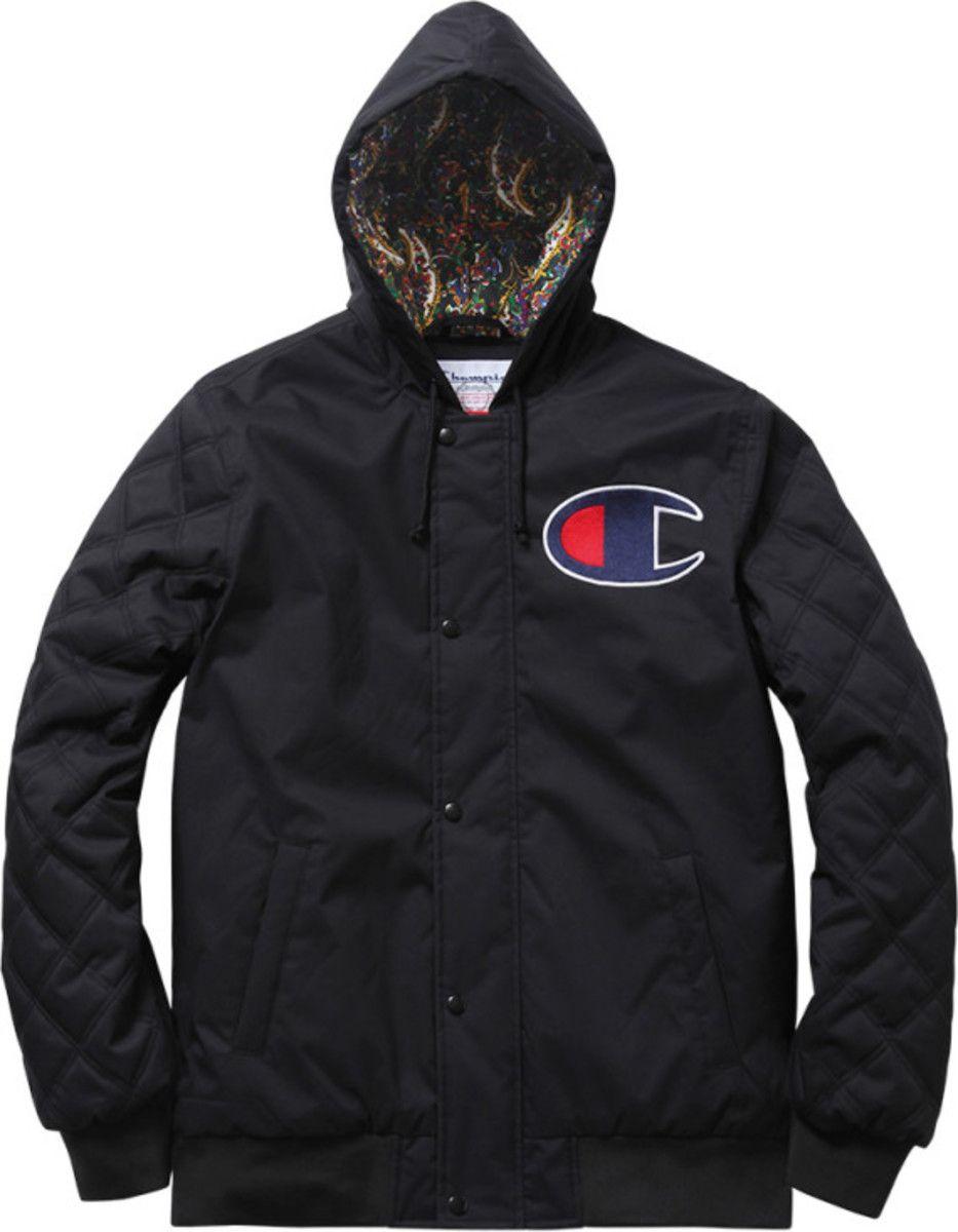 Supreme X Champion Zip Up Jacket Fall Winter 2013 Freshness Mag Jackets Fall Jackets Hoodie Jacket [ 1200 x 933 Pixel ]