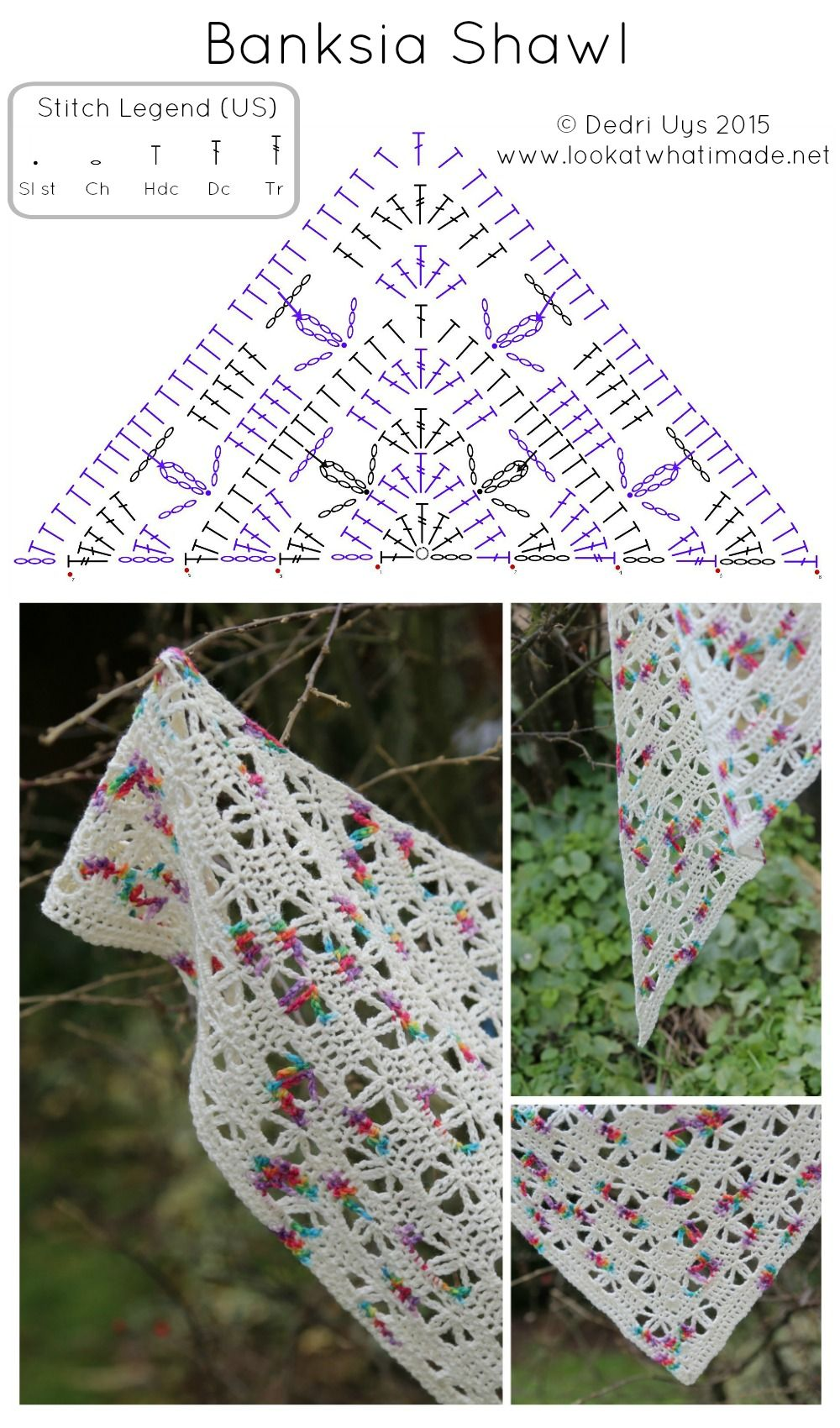 Banksia Shawl Crochet Pattern – Look At What I Made | Crochet ...