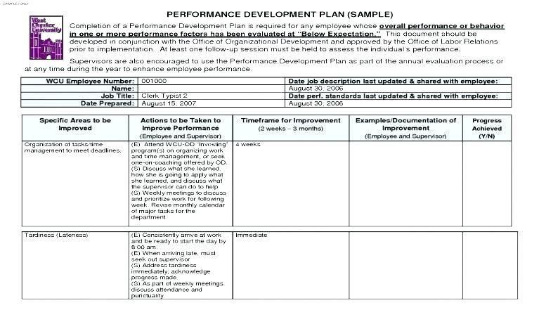 30 Sample Employee Performance Improvement Plan Template Event