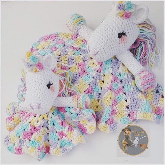 Lavender Unicorn Snuggle Blanket crochet pattern only not ...