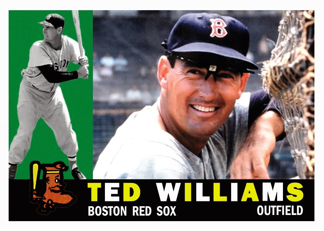Ted Williams 1960 Topps Baseball Card Boston Red Sox