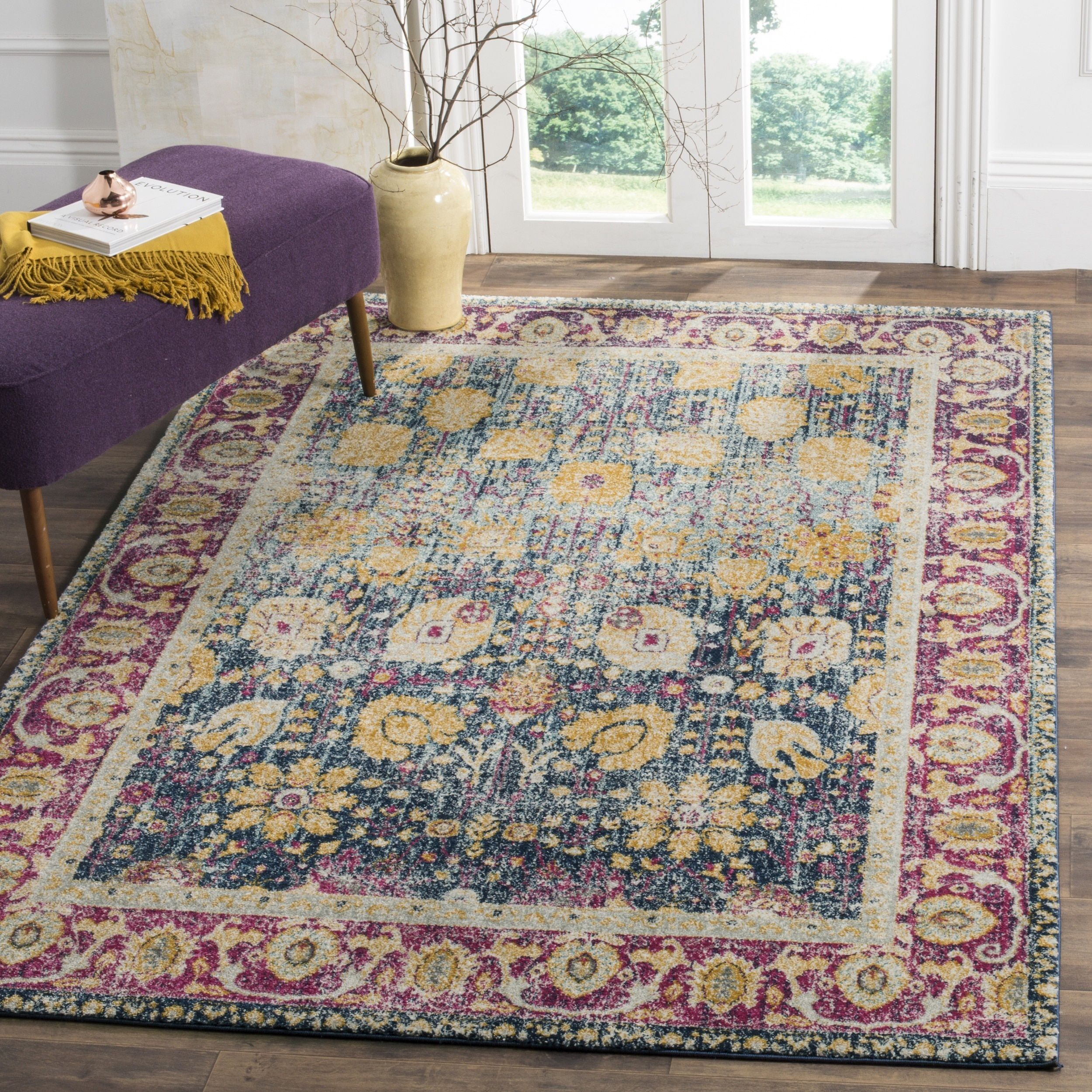 rug persian photo accent vintage fullxfull il knotted floor hand carpet gallery bohemian listing