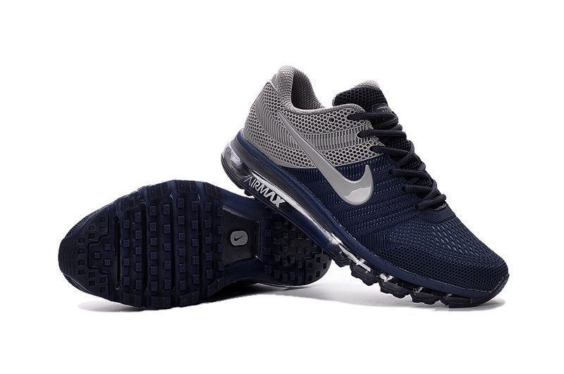 new arrival c32e0 d2643 ... Correr Para Hombres Gris Negro Zapatos - Changjiang750. Nike Air Max  2017 Men Dark Blue Grey KPU .