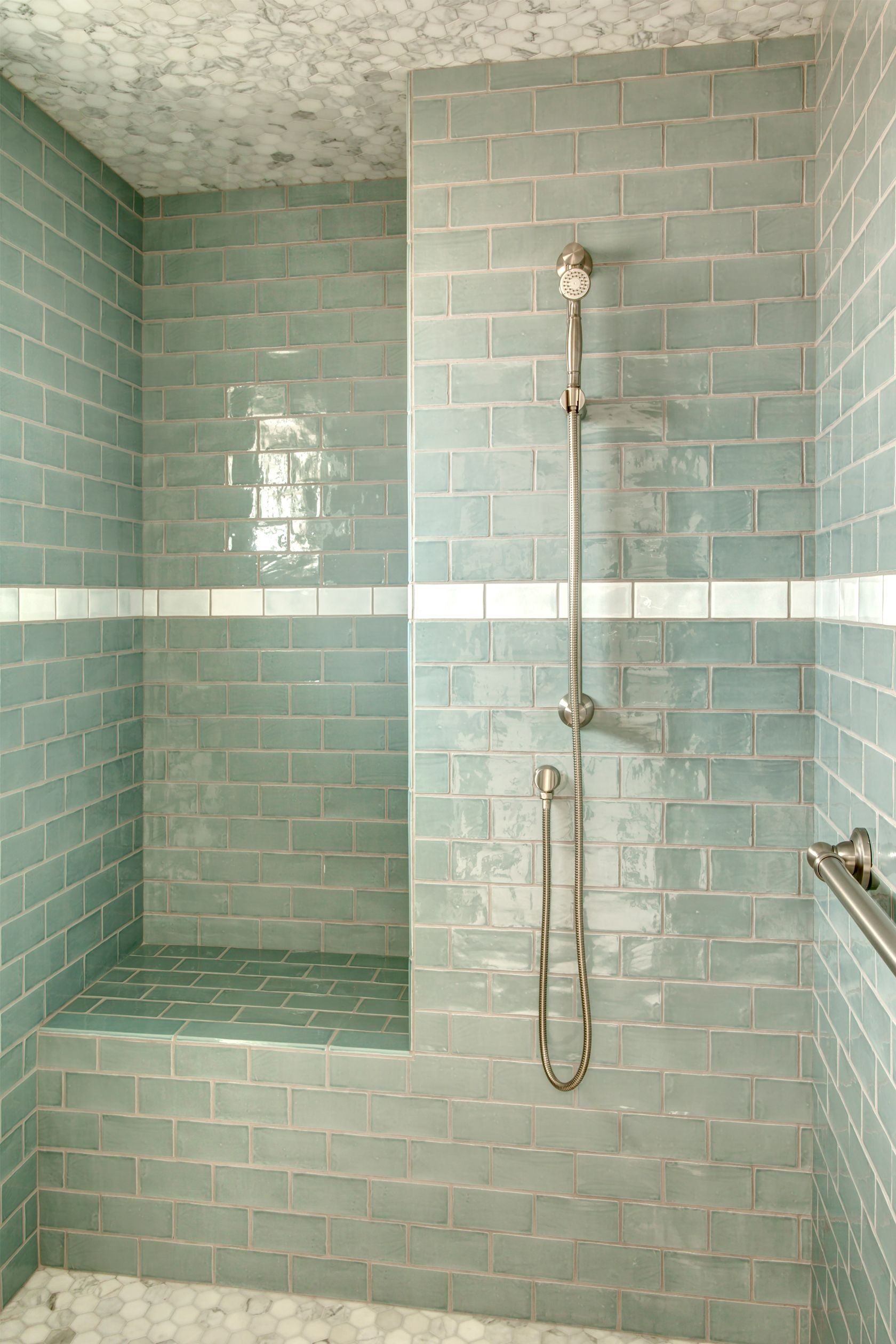 Sound Landing Gut And Remodel Of A 1960s Era Home Shower Ceiling Tile Colorful Bathroom Tile Shower Ceilings