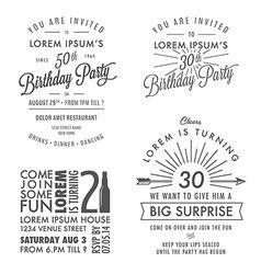 Adult birthday invitation vintage design elements vector cards adult birthday invitation vintage design elements vector stopboris Images