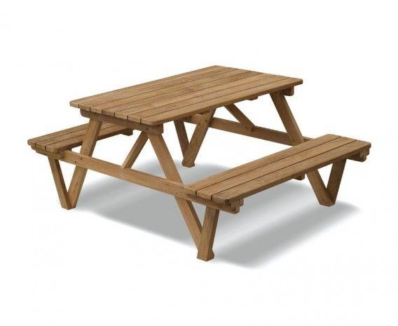 4ft Teak Picnic Bench Benches Corido Gardenfurniture