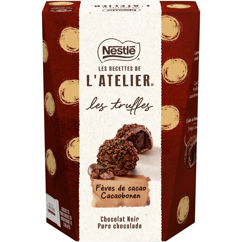 Chocolats truffes chocolats noir NESTLE LES RECETTES DE L'ATELIER #truffesauchocolat