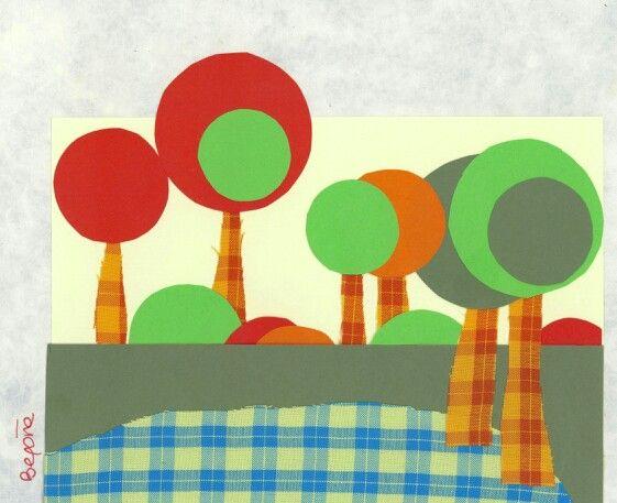 Primavera de tela y cartulinas, Belu