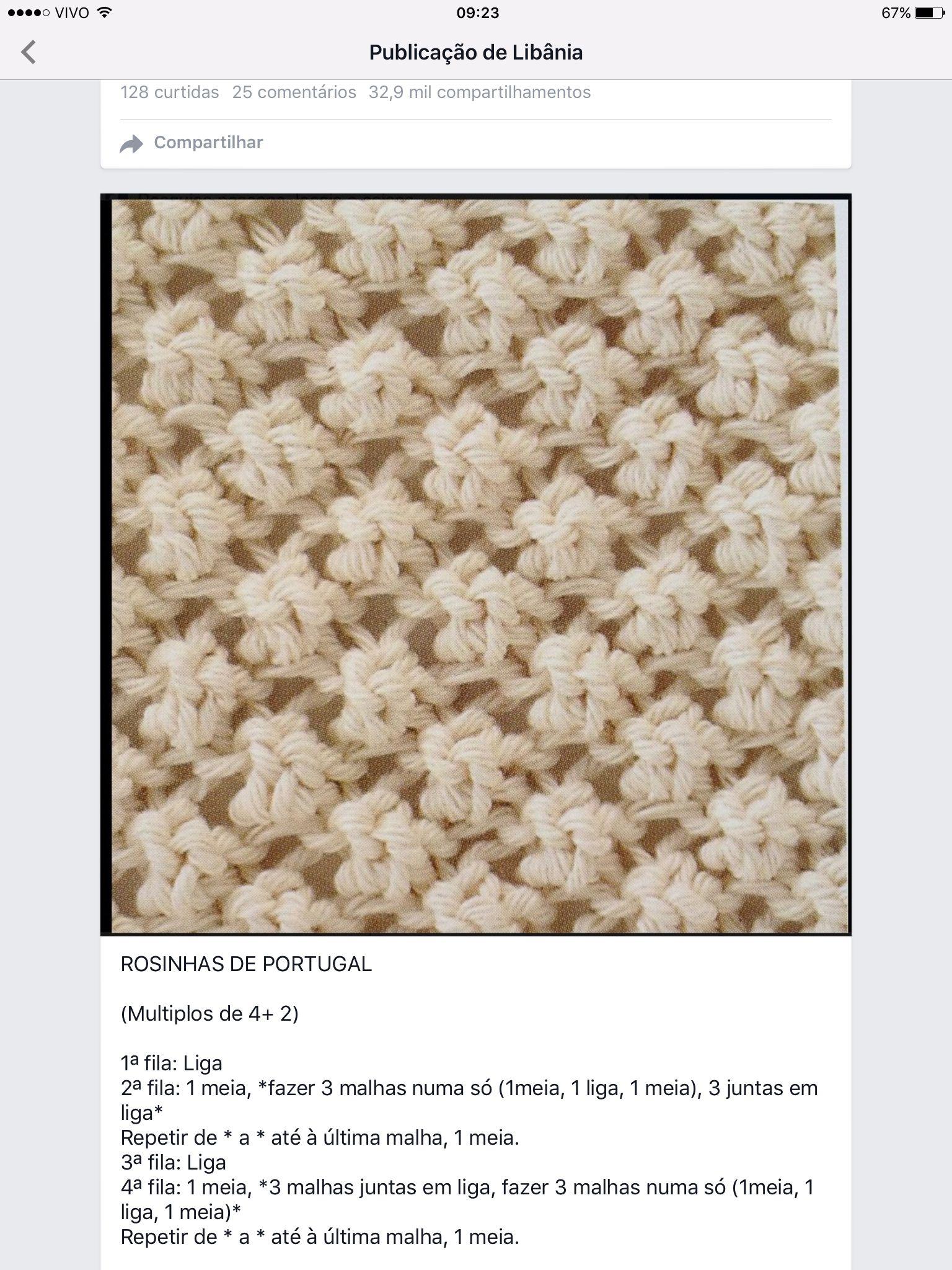 Ponto de tricô fantasia …   Tricot e Crochet   Pinte…