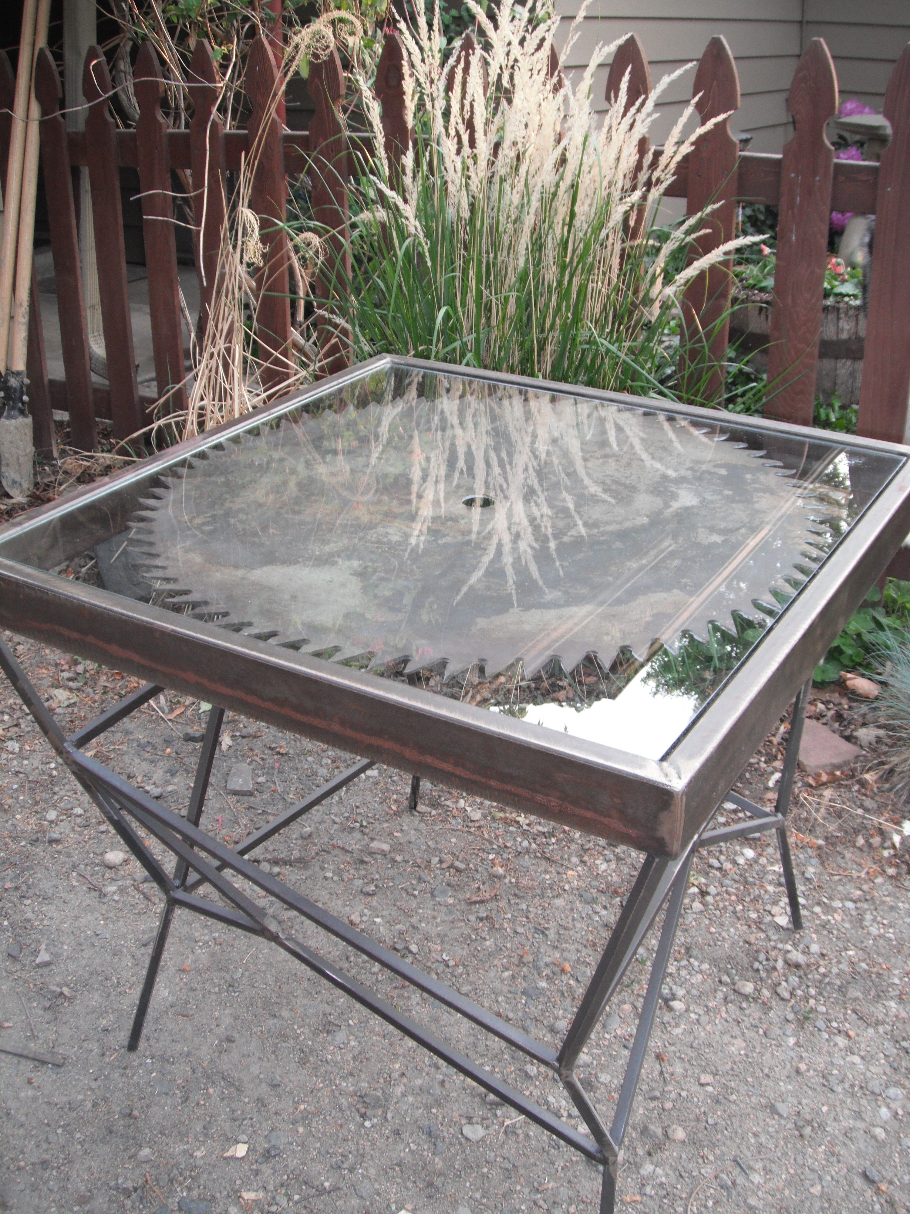 Antique Saw Blade Table $200   Wheat Ridge Http://furnishly.com/