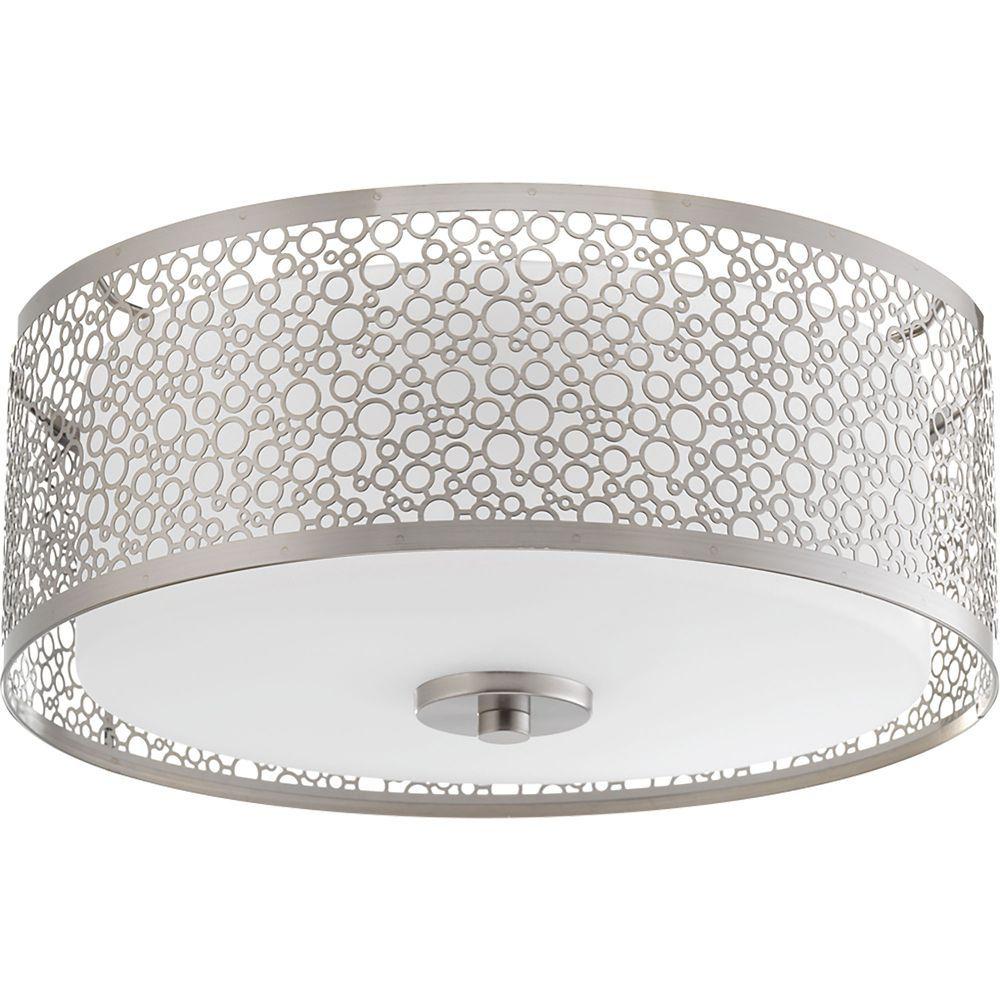 Collection Mingle – Plafonnier  ampoule  DEL unique nickel brossé