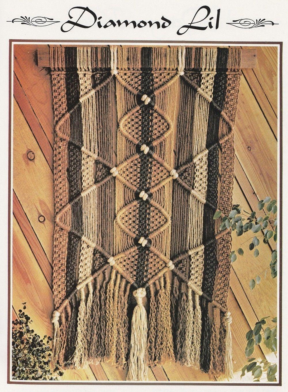 Macrame Vintage Instruction Book 10 Plant Hanger Designs Suspended Elegance