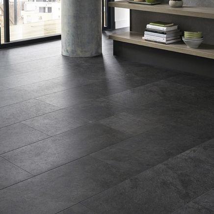 Quickstep Livyn Black Slate Vinyl Tile Flooring Vinyl Flooring Black Vinyl Flooring Flooring
