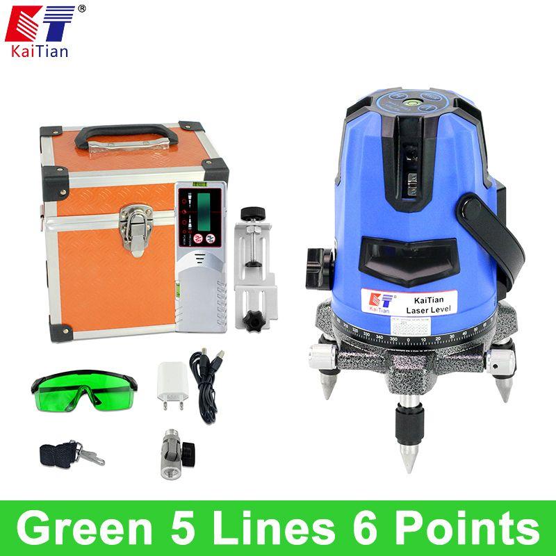 Us 169 16 Kaitian Green Laser Level 5 Lines 6 Points Outdoor Tilt Slash Function 360 Rotary Function Green Kaitian Laser Level Lines Outdoor Points