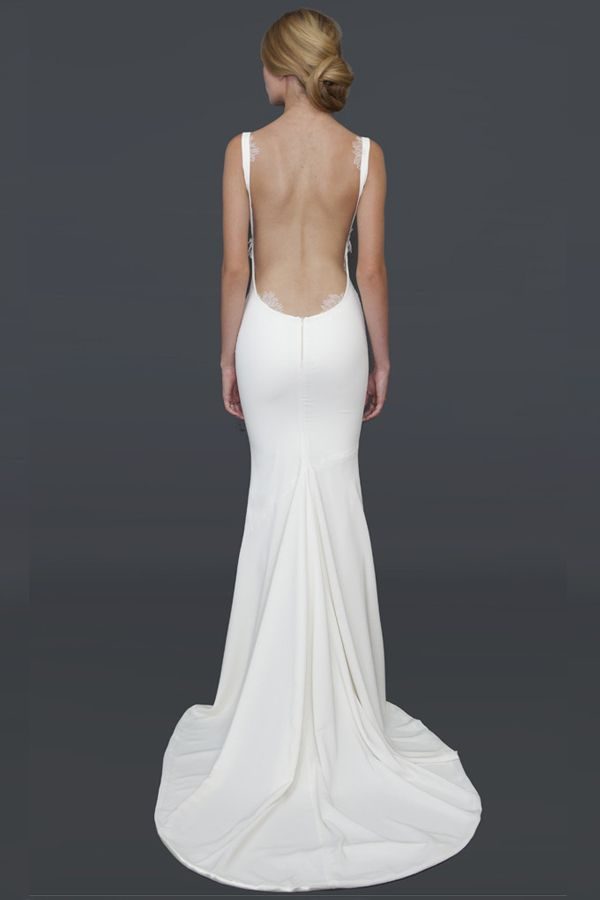 12252f7f5e1 25 Backless Wedding Dresses Ideas