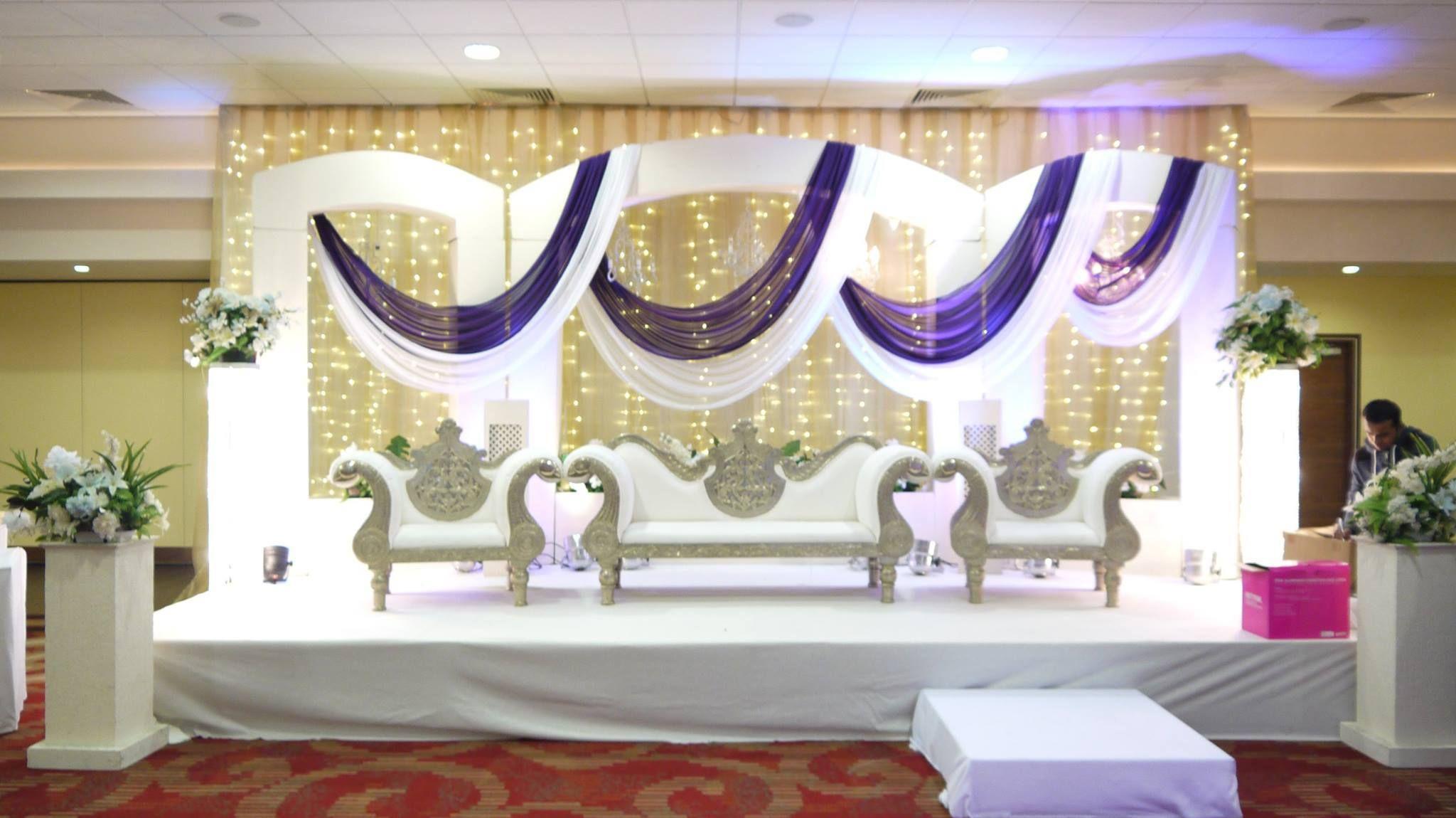 Google All Elegant Backdrops: The Elegant Wedding Stage Decoration In All White