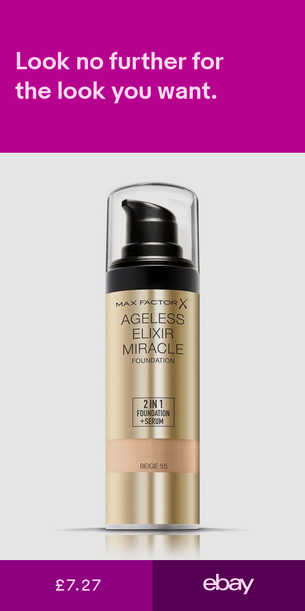 Max Factor Ageless 2 In 1 Foundation Beige 55 For Glossy Look ...