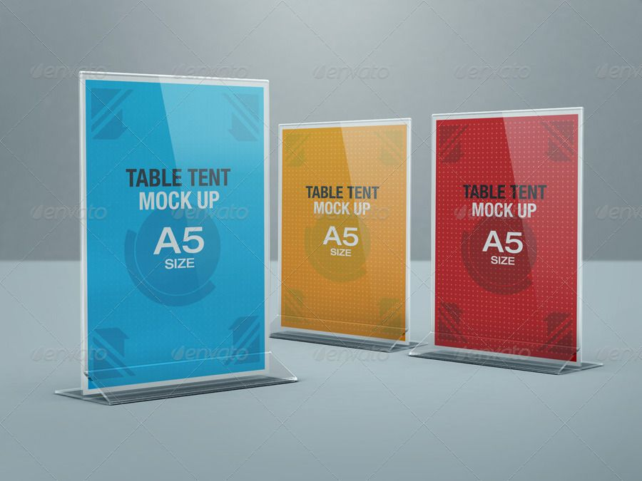 Table Tent Mock Up Table Tents Presentation Design Trifold Brochure Template
