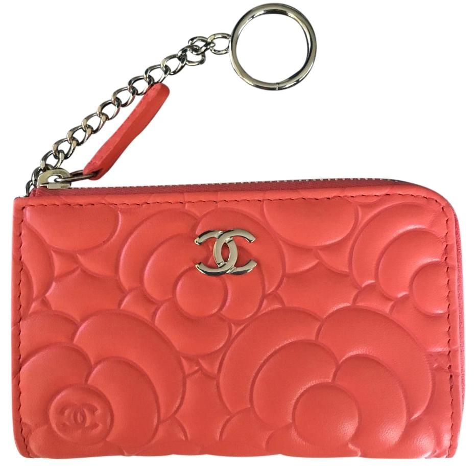 598ac312e5e Chanel Chanel Classic CC O Key Holder - Coral Camellia Key Chain Card Case  Wallet. Free shipping and guaranteed authenticity on Chanel Chanel Classic  CC O ...