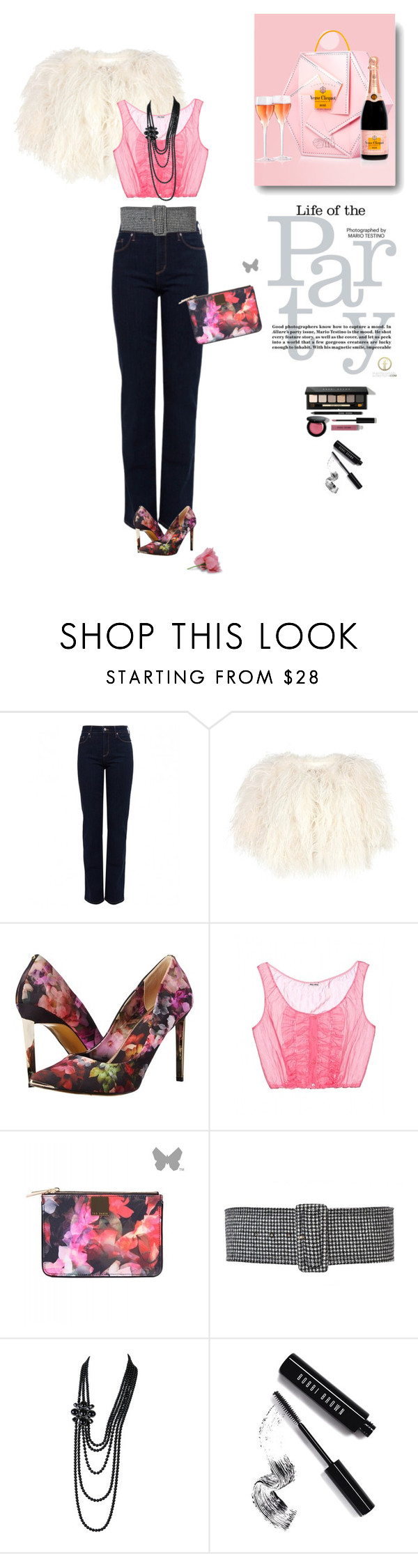 """""""1125"""" by m-lane ❤ liked on Polyvore featuring NYDJ, Ted Baker, Miu Miu, Rochas, Chanel and Bobbi Brown Cosmetics"""