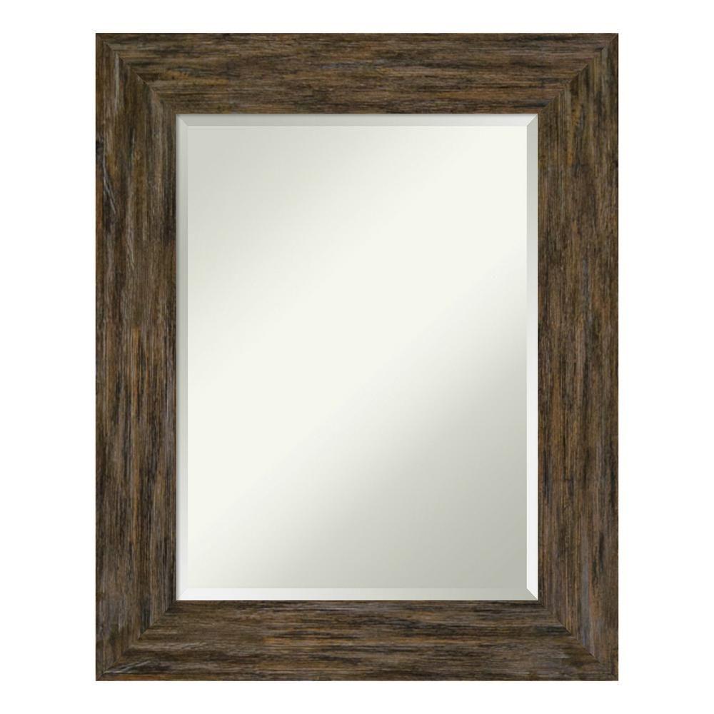 Amanti Art Fencepost Brown Bathroom Vanity Mirror Frames On Wall