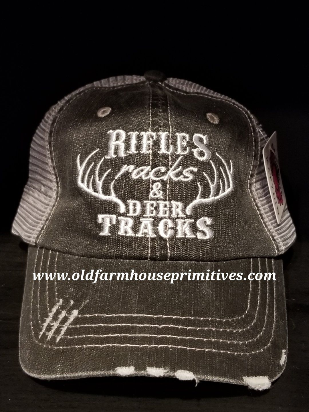 db516dc1aa3 KD42 Rifles Racks   Deer Tracks Women s Trucker Hat