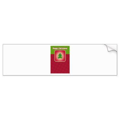 Christmas Tree Template Bumper Sticker Christmas Stickers Xmas Eve