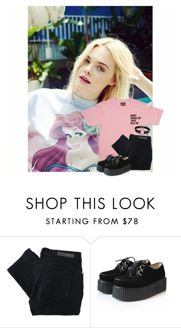 """""""Ootd ~ Rtd ~ Rina"""" by pastelprincesslol ❤ liked on Polyvore featuring Nobody Denim"""