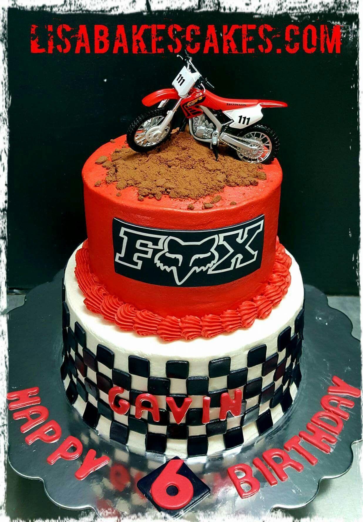 Brilliant Motocross Cake By Lisabakescakes Com Bike Birthday Parties Birthday Cards Printable Trancafe Filternl