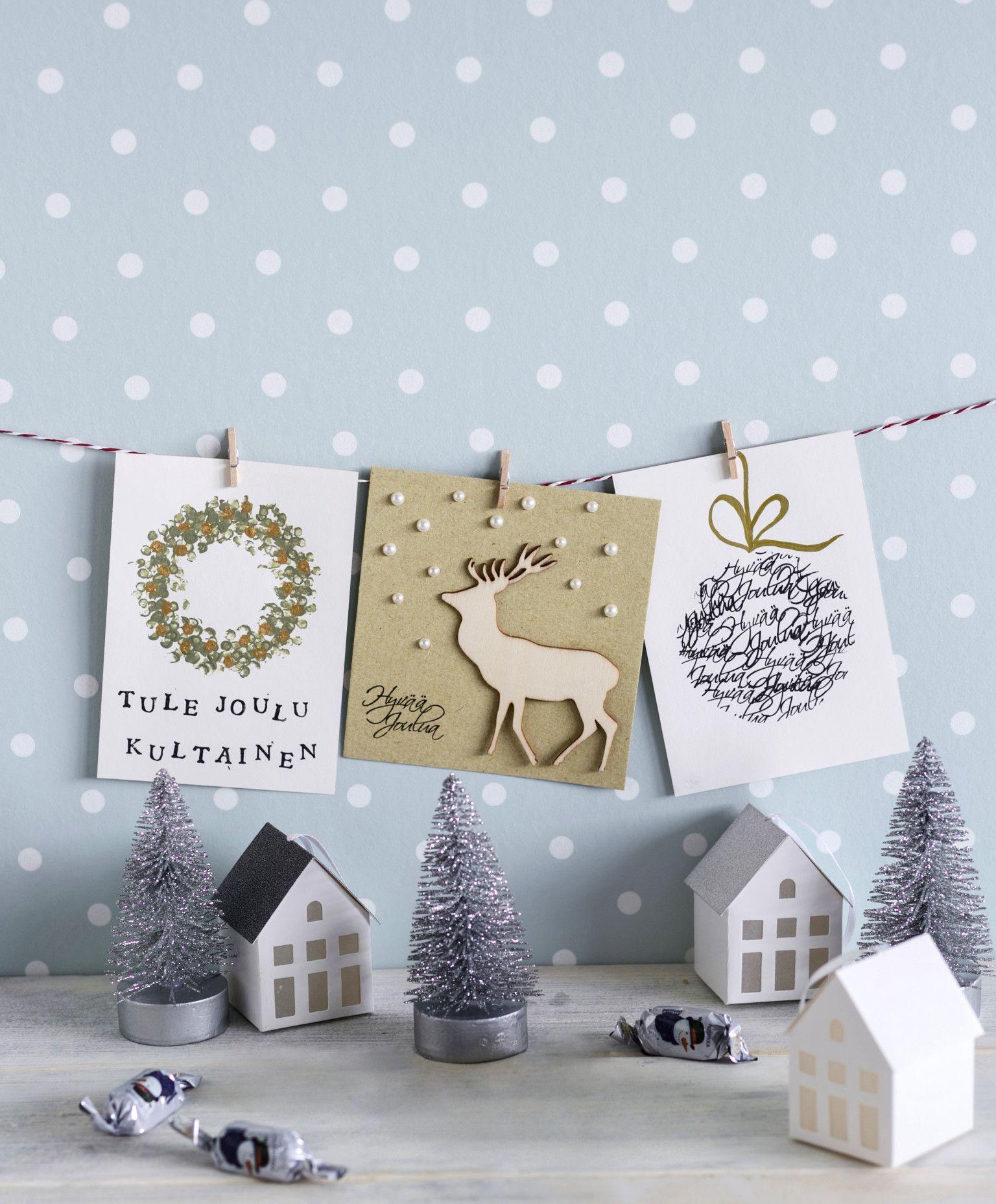 Joulukorttien askartelu – 12 kaunista ideaa kortteihin