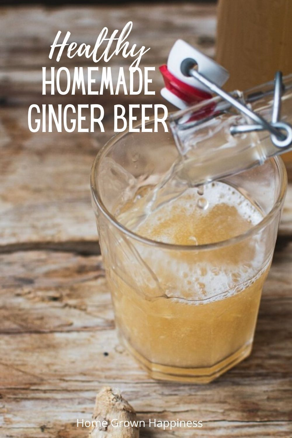 This delicious, healthier homemade ginger beer is perfectly fizzy, has an awesome kick of ginger and packed with probiotics.