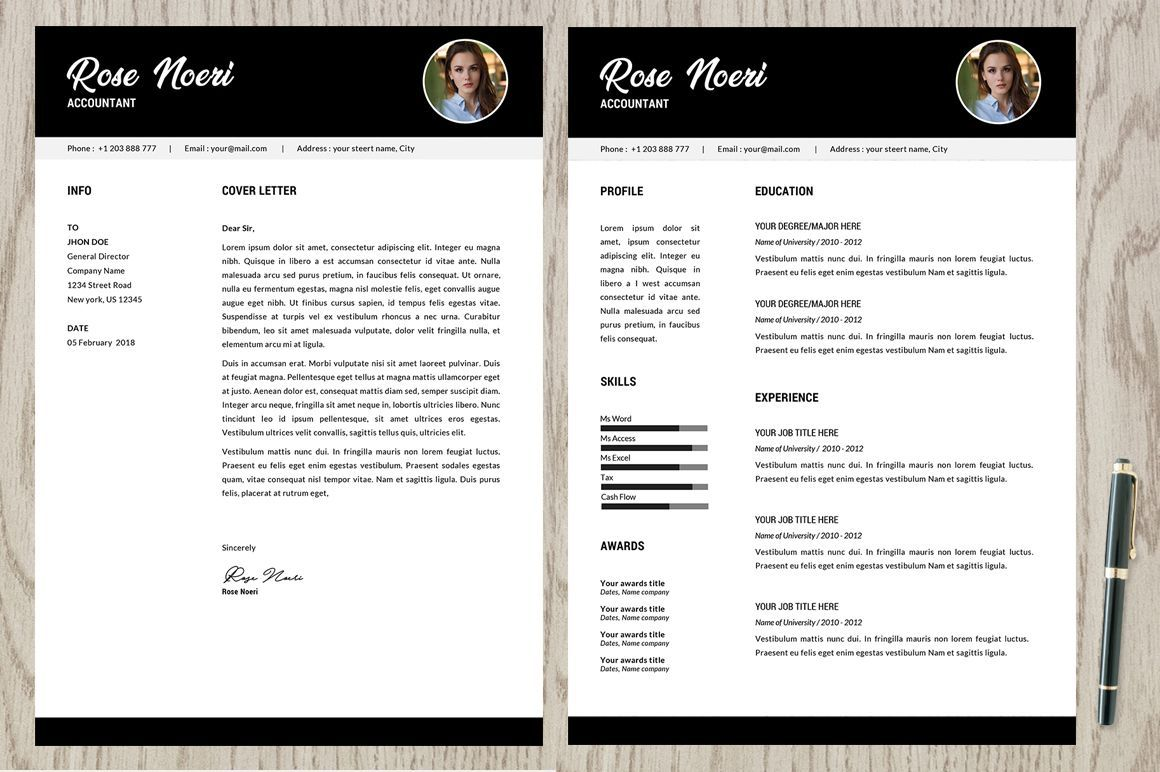 Free Resume Template Rose Pixelify Best Free Fonts