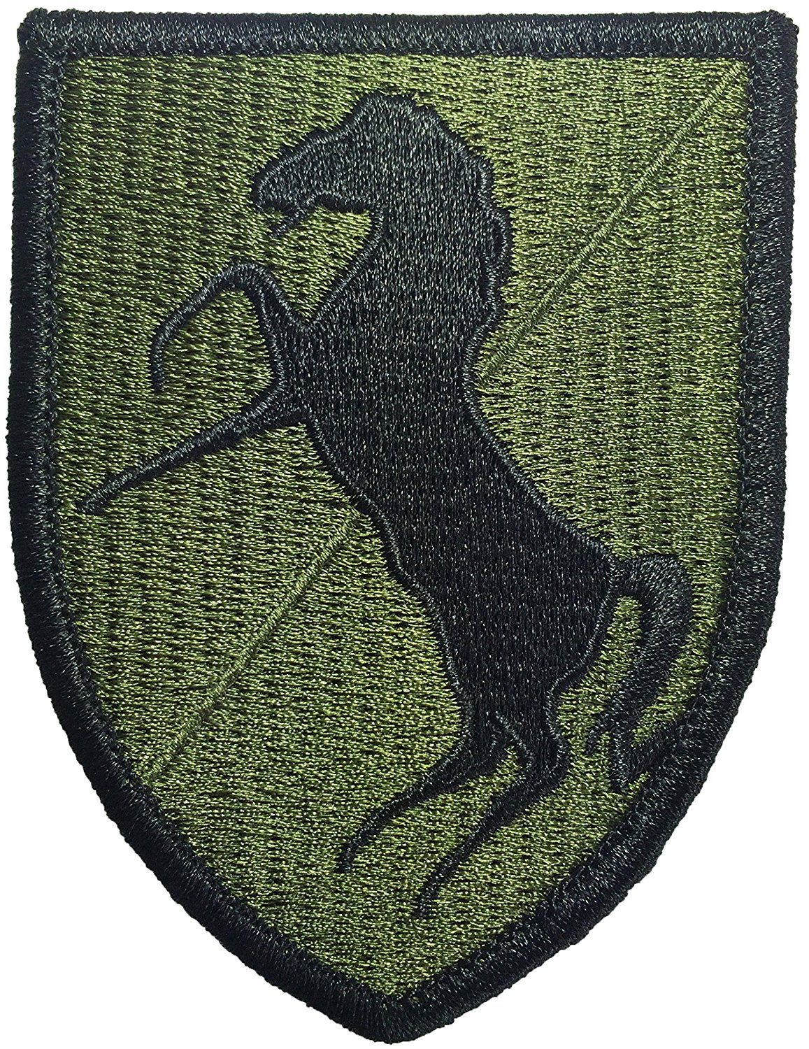 NEW EMBROIDERY SEW//IRON ON  11th A.C.R Black Horse Patch