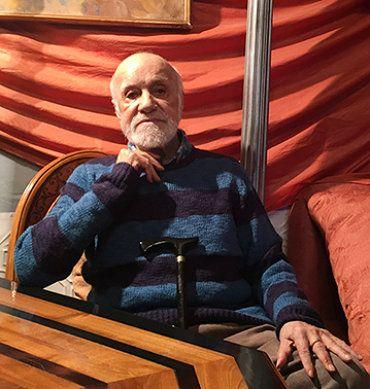 El dramaturgo Francisco Nieva, en su casa de Madrid. (P.C.)