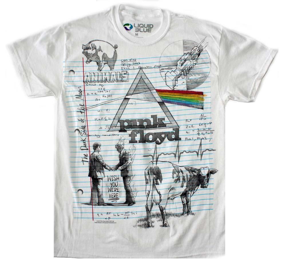 Pink Floyd Sketch T-Shirt - X-Large