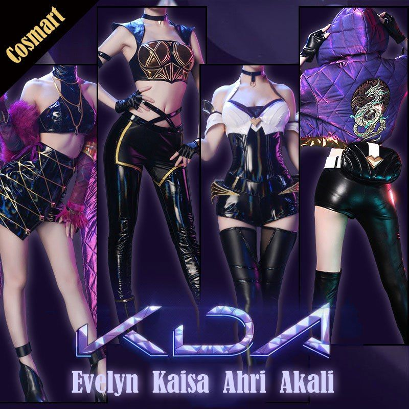 League Of Legends LOL KDA Ahri Akali Kai/'Sa Evelynn Cosplay Shoes High Heel Boot