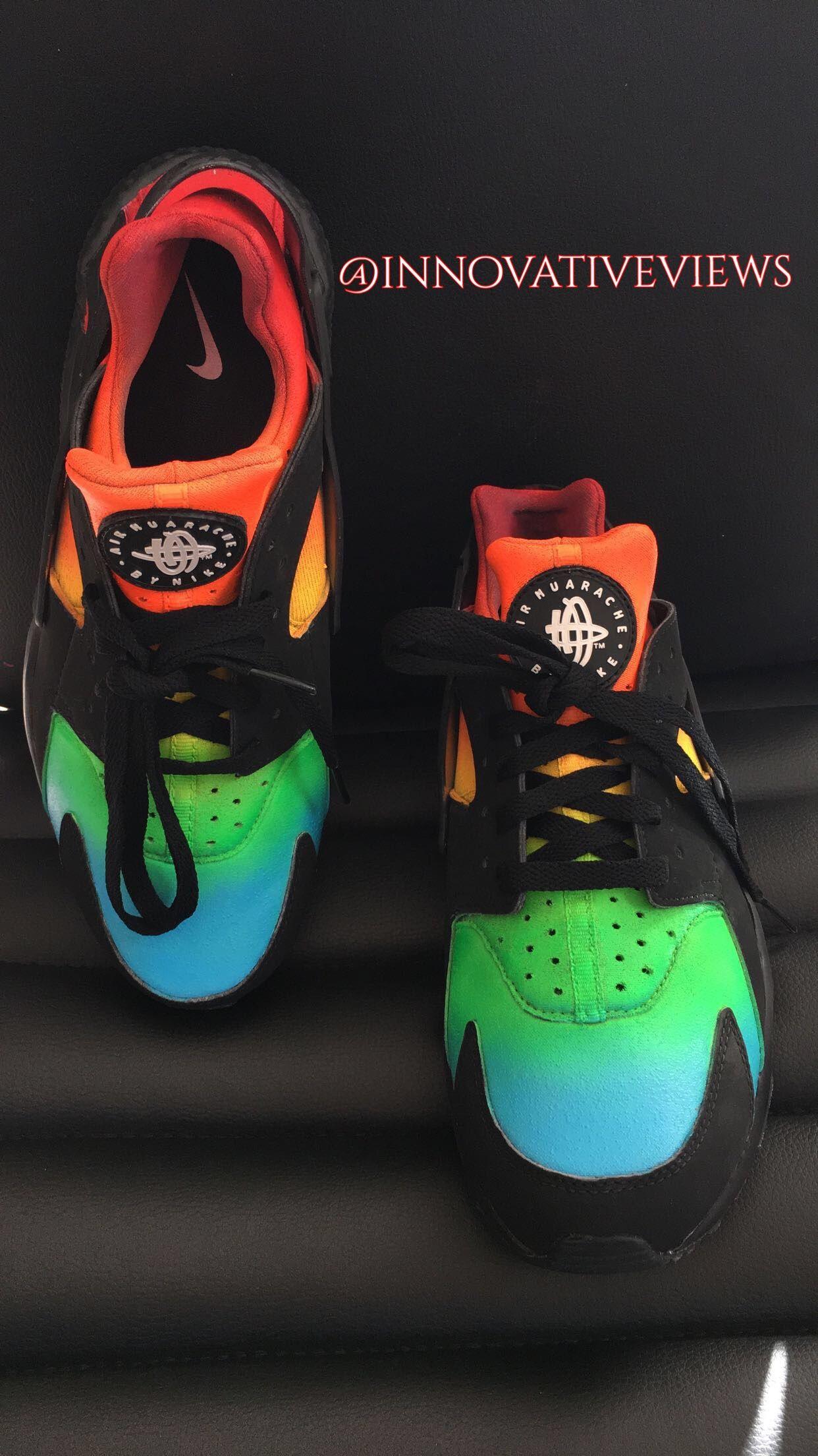 47a2636bc2fe Multi-Color Trainers for sale Custom shoe art!  art  sneakerhead  dope   fashion  shoes