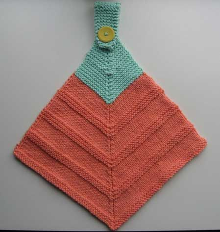 Dishcloth And Washcloth Knitting Patterns Hanging Towels Knitting