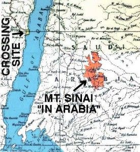 Map of Gulf of Aqaba Region - crossing of the Red Sea -Sinai