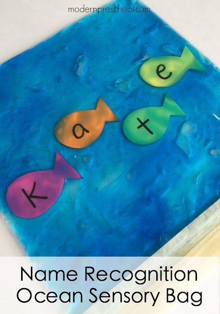 Ocean Name Recognition Sensory Bag | Preschool Theme :: Ocean