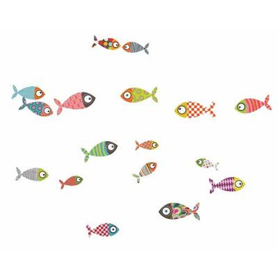 ADZif Ludo Fishes Wall Decal