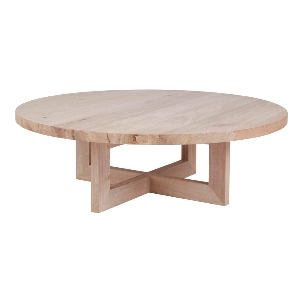 Solid Timber Coffee Table Designer Round Oak Coffee Table Solid Timber Accent Tables In