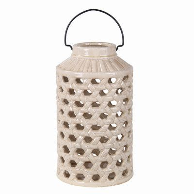 Privilege Pierced Ceramic Decorative Jar Size: Large